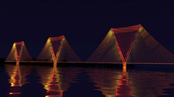 Split-pylon concept bridge to cross Strait of Gibraltar, with two 5 km main spans